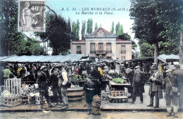 carte postale mureaux centre ville